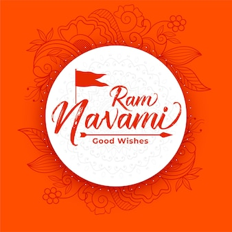 Ram navami celebration card for navratri festival