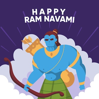 Ram navami in flat design
