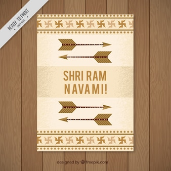 Ram navami greeting card with arrows