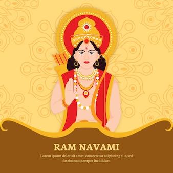 Ram navami with hindu character
