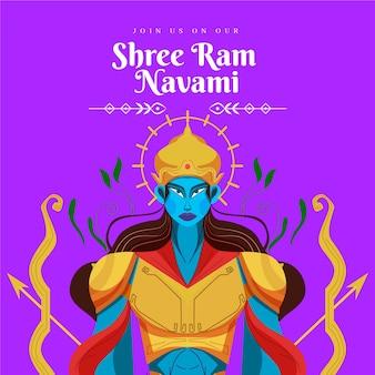 Ram navamiのフラットデザイン
