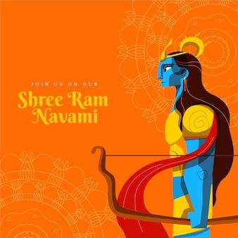 Ram navamiのフラットスタイル