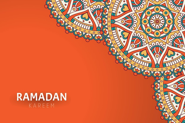 Ramadam kareem background with mandala ornaments