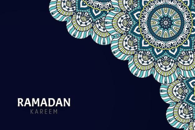 Ramadam kareem background with mandala ornaments