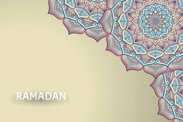 Рамадам карим фон с орнаментом мандалы