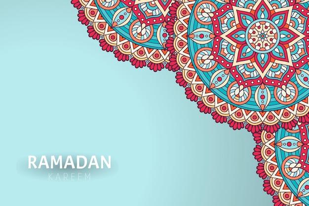 Рамадам карим фон с орнаментом мандалы Premium векторы
