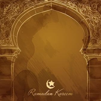 Ramadan background design mosque