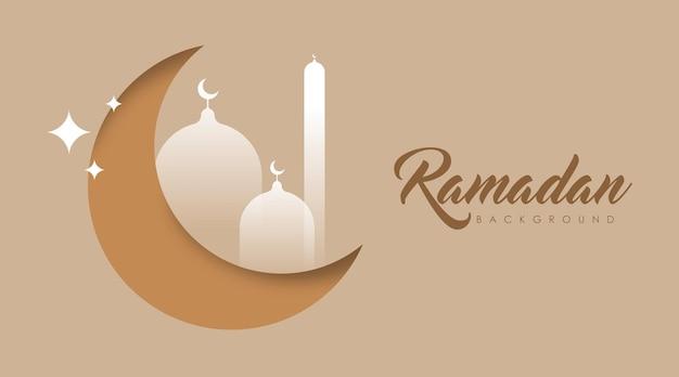 Ramadan background illustration. islamic background illustration.