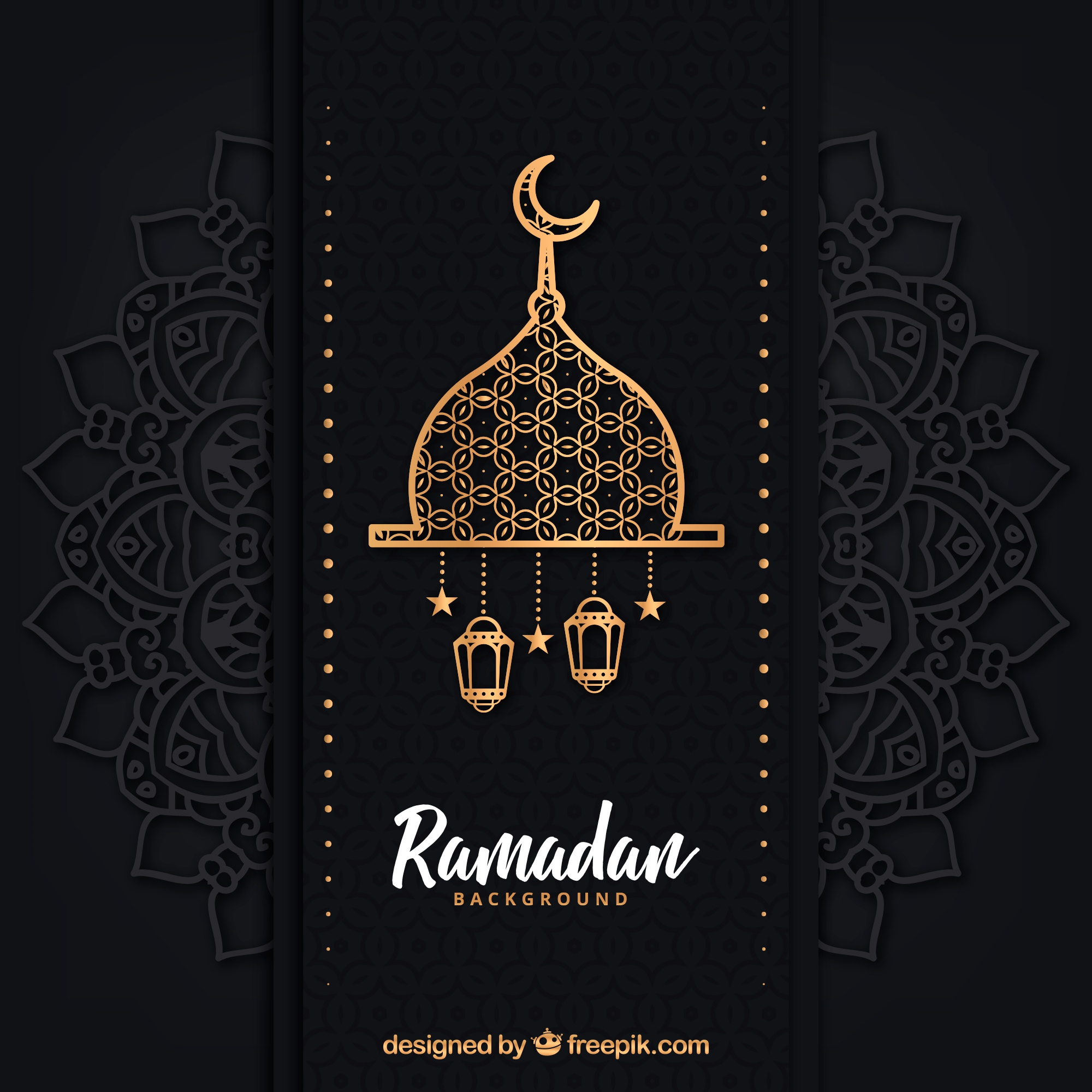Ramadan background with different lamps