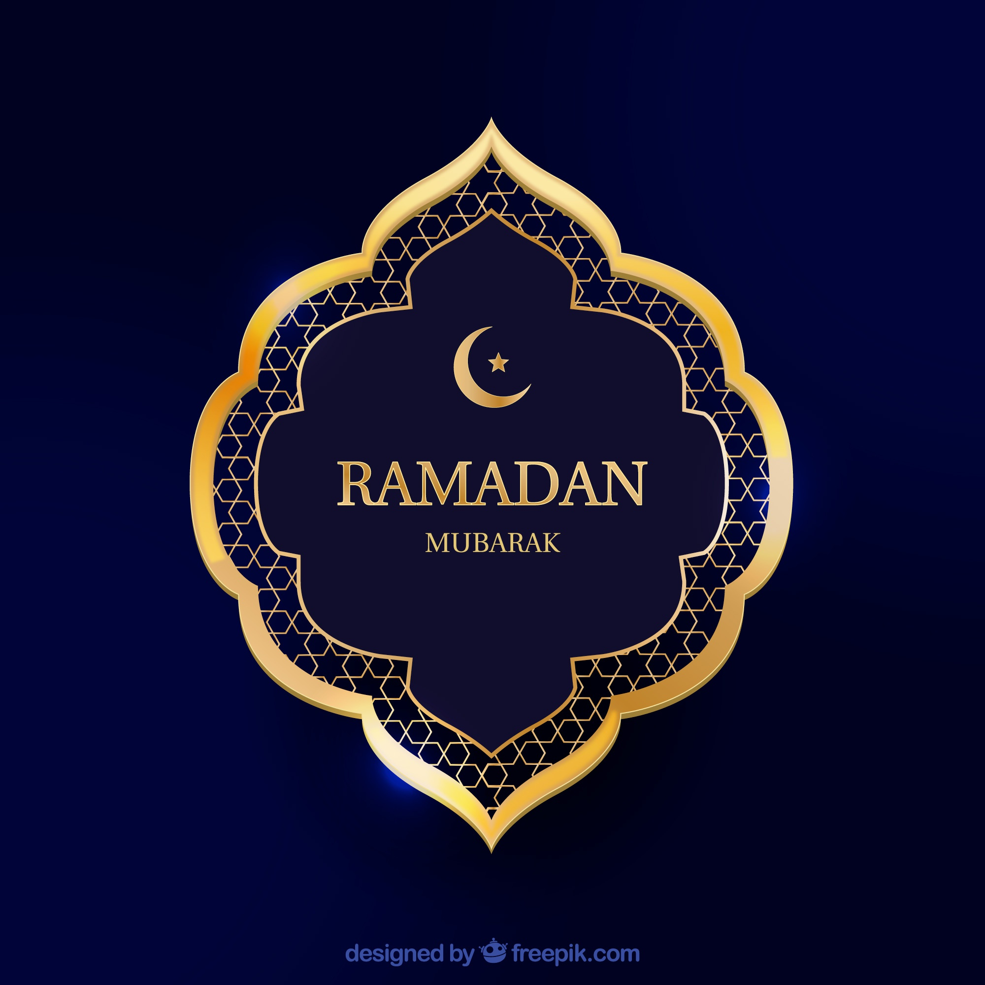 Ramadan background with frame in realistic style