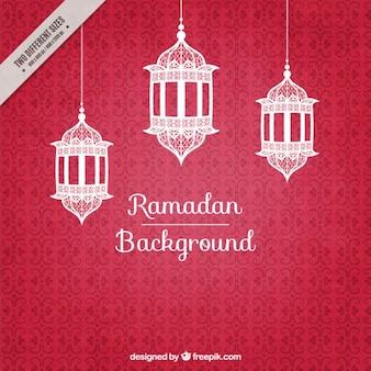 Ramadan background with lantherns