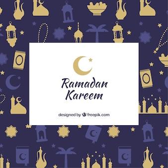 Ramadan background with pattern
