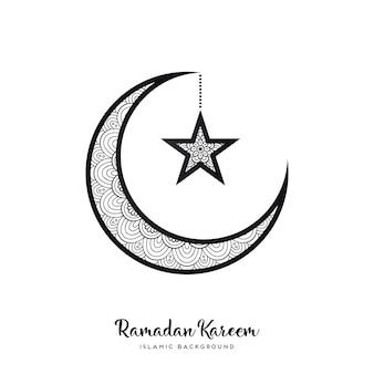 Рамаданский фон Бесплатные векторы