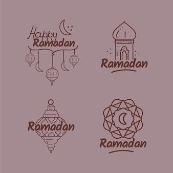 Рамадан коллекция значков