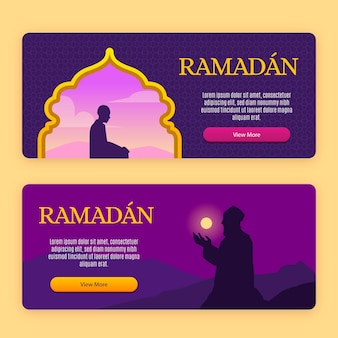 Рамадан баннер дизайн шаблона коллекции