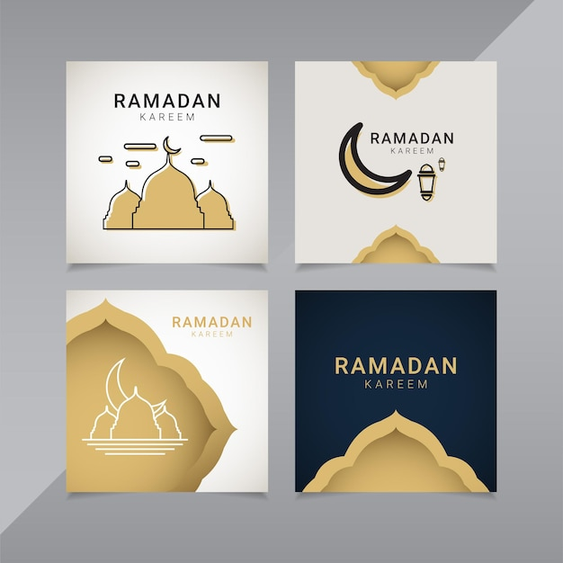 Рамадан шаблон оформления баннера золотой исламский орнамент