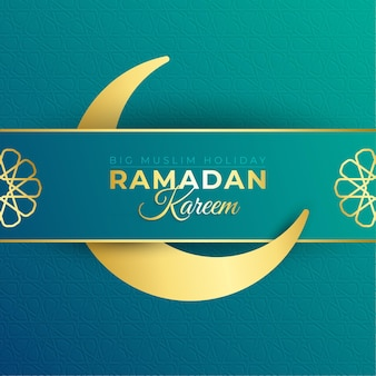 Ramadan  beautiful greeting with decorative moon