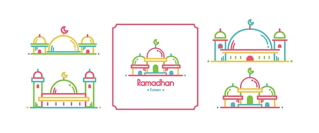 Ramadan card design set