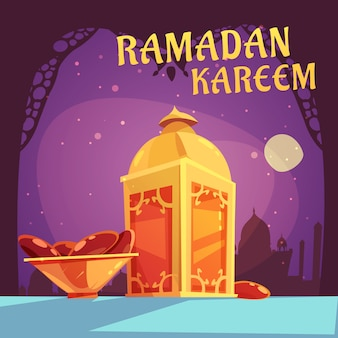 Ramadan cartoon illustration