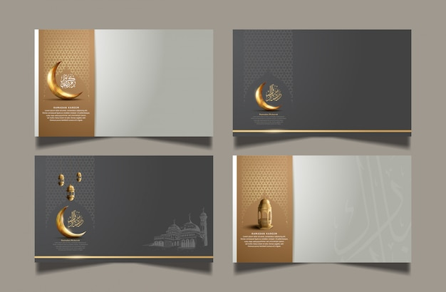 Ramadan design set for celebrate holy ramadan celebration