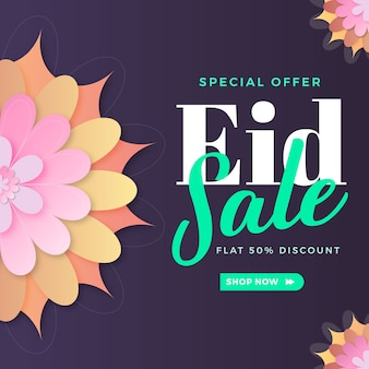 Ramadan eid sale banner special offer for template spring concept