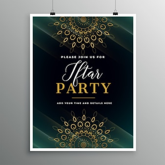 Ramadan food iftar party invitation template