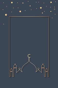 Ramadan framed background design