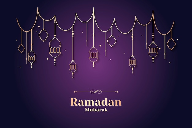 Ramadan framed card design