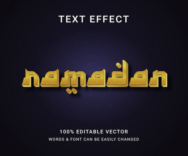 Ramadan full editable text effect