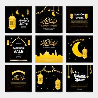 Ramadan greeting card collection