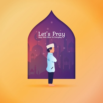 Ramadan greeting post - let's pray for muslim