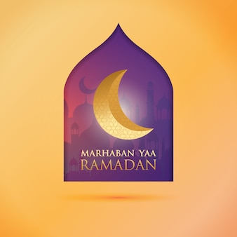 Ramadan greeting post - the month of ramadan
