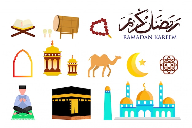 Ramadan icon collection