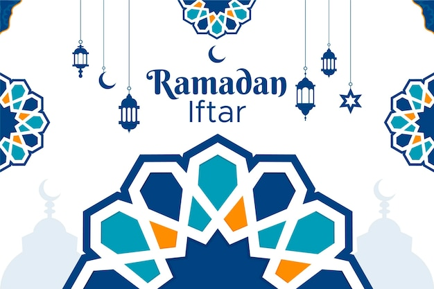 Ramadan iftar background design
