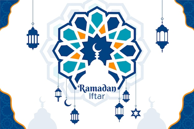 Ramadan iftar background