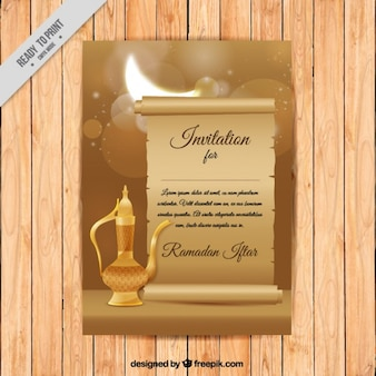 Ramadan invitation with teapot