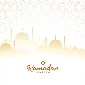Ramadan kareem arabic festival card background