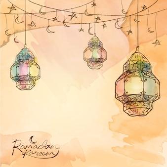 Ramadan kareem arabic lantern star