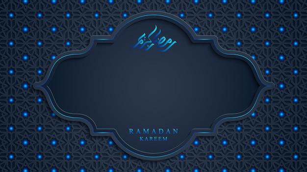Ramadan kareem background in 3d style.