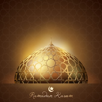Ramadan kareem background glow light