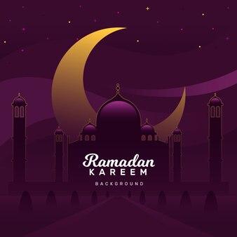 Ramadan kareem background in gradient style