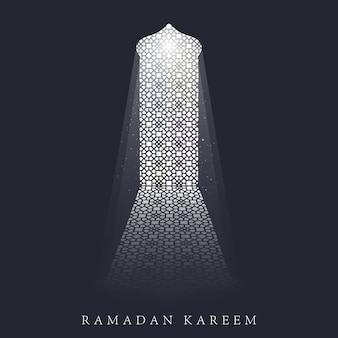 Ramadan kareem background greeting card template.