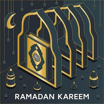 Рамадан карим фон изометрические
