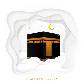 Ramadan kareem background template design