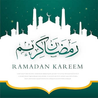 Ramadan kareem background with abstract style and arabic mosque