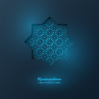 Ramadan kareem background with decorative pattern