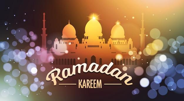 Ramadan kareem background with mosque