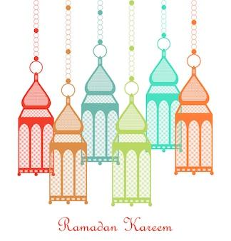 Ramadan kareem card.