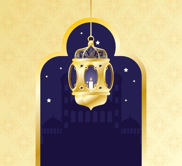 Ramadan kareem celebration lamp hanging