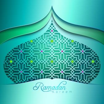 Ramadan kareem colorful pattern mosque dome